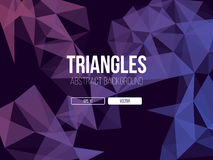 Abstract Triangles Background Royalty Free Stock Photography