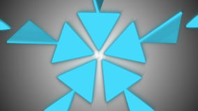 Abstract triangles background. Seamless loop stock footage