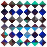 Abstract triangles. Composition of abstract triangles forming diamond shapes in teal and lapis lazuli color scheme Stock Photography