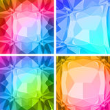 Abstract triangles geometric background Stock Photos