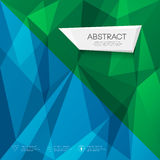 Abstract triangles geometric blue and green concept Stock Image