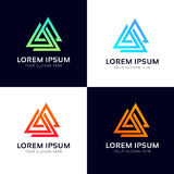 Abstract triangles geometric polygon logo sign company icon symb. Triangles geometric polygon logo sign company icon symbol vector design stock illustration