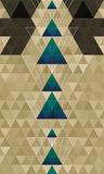 Abstract triangles horizontal pattern background Stock Image