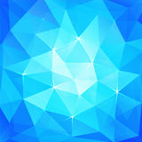 Abstract triangles ice background Royalty Free Stock Photography