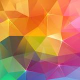 Abstract triangles ice colorful  background Stock Photos