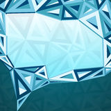 Abstract triangles idea bubble Stock Photo