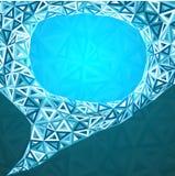 Abstract triangles idea bubble Royalty Free Stock Photo
