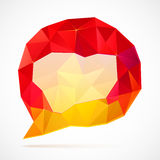 Abstract triangles idea bubble Stock Photo