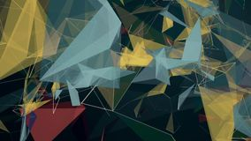 Abstract triangles and lines stock footage