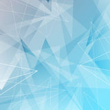 Abstract triangles and lines blue background Stock Photo