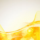 Abstract triangles lines pattern yellow frame Stock Photos