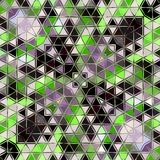 Abstract triangles mosaic pattern in green, grey, white. Abstract triangles mosaic in green, grey, white Royalty Free Stock Photography