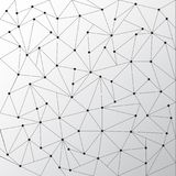 Abstract triangles outlines with dots connect on white backgroun. D. Technology connection concept. Vector illustration Royalty Free Stock Photo