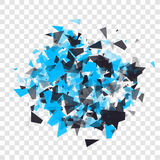 Abstract triangles particles with transparent shadows.  Stock Photos