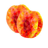 Abstract triangles peaches on a white background Royalty Free Stock Images