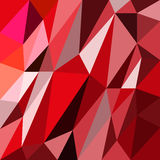 Abstract triangles red background  Royalty Free Stock Photo