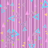 Abstract triangles seamless pattern background texture Royalty Free Stock Photography