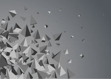 Abstract triangles space. Stock Image