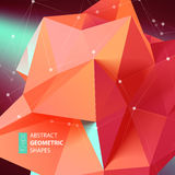 Abstract triangles space low poly. Stock Photo