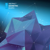 Abstract triangles space low poly. Royalty Free Stock Image