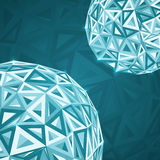 Abstract triangles  spheres background Stock Photos