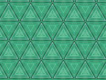 Abstract triangles textured green pattern stock image