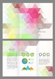 Abstract triangles Vector Brochure Template Royalty Free Stock Images
