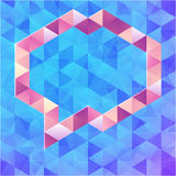 Abstract triangles vector speech bubble Stock Photography