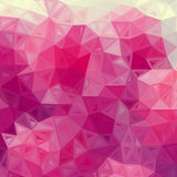 Abstract triangles vintage vector pink background Royalty Free Stock Image