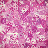 Abstract triangles vintage vector pink background Stock Images