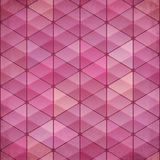 Abstract triangles vintage vector pink background Royalty Free Stock Images