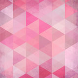 Abstract triangles vintage vector pink background Royalty Free Stock Photography