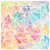 Abstract triangles wallpaper colorful brush strokes vector Stock Photos
