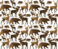 Abstract triangular animal seamless pattern Royalty Free Stock Photos