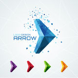 Abstract triangular arrow logo Stock Photography