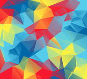 Abstract Triangular Background Illustration with Autism Awarenes. An abstract colorful background of red, yellow, orange, and blue triangles. These are autism Royalty Free Stock Photos