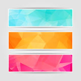 Abstract Triangular banners set. Abstract Triangular Polygonal banners set stock illustration
