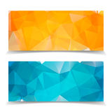 Abstract Triangular banners set. Abstract Triangular Polygonal banners set royalty free illustration