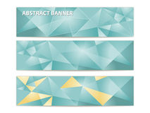 Abstract triangular banners Stock Photography
