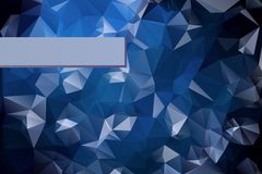 Abstract triangular blue background with polygonal Stock Images