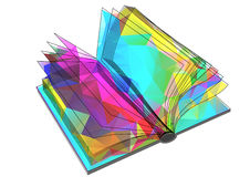 Abstract triangular book Stock Image
