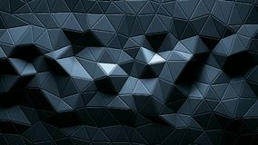 Abstract triangular crystalline background animation. Royalty Free Stock Photography