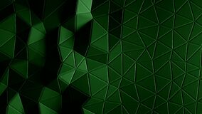 Abstract triangular crystalline background animation. 4K stock footage