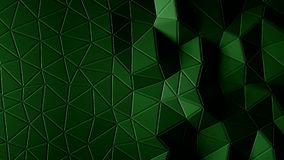 Abstract triangular crystalline background animation. 4K. Abstract triangular crystalline background animation. Green color 3d rendering 4K stock video footage