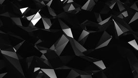 Abstract triangular crystalline tunnel animation. Seamless loop stock video footage