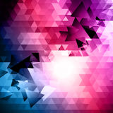 Abstract Triangular Mosaic Background Stock Photos