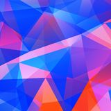Abstract triangular mosaic background. Abstract triangle colorful bright mosaic background. Vector illustration Royalty Free Stock Photos