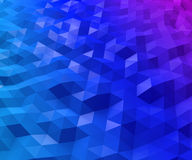 Abstract triangular polygon background. Abstract triangular blue and magenta polygon background Royalty Free Stock Images