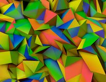 Abstract triangulated 3d background with triangles.. Abstract triangulated 3d colorful background Vector Illustration