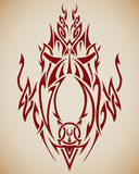 Abstract Tribal Art. Abstract tribal composition for use in tattoos, etc Royalty Free Stock Images